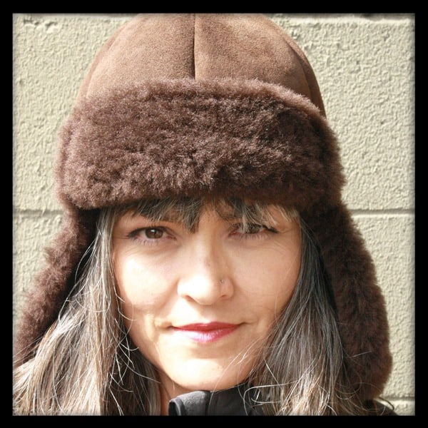 Chocolate Trooper Sheepskin Hat