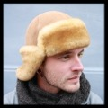 Walnut Trooper Sheepskin Hat