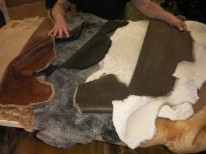Making Sheepskin Hats