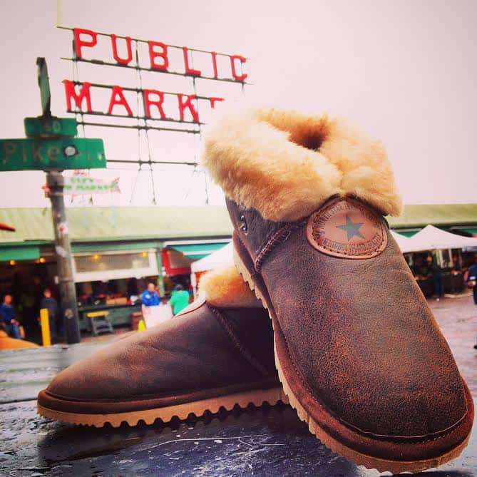 tracker sheepskin slippers