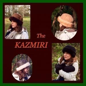 Kazmiri Sheepskin Hat - Clockwise from top-left:Chocolate, Stony, Black, Napa